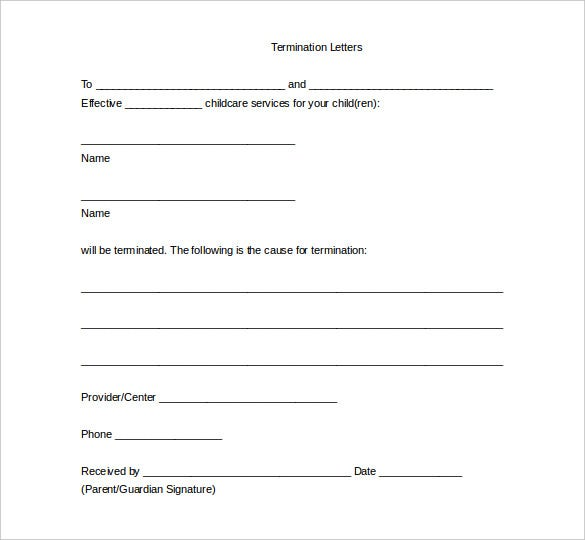 20 Free Termination Letter Templates Free Sample