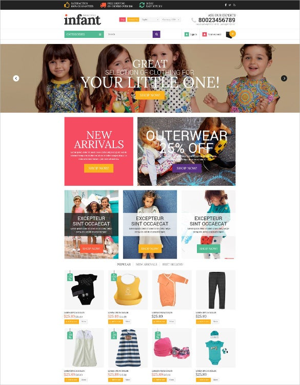retail baby store shopify bootstrap theme