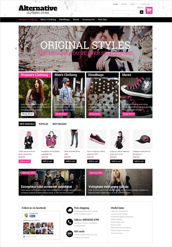 retail clothes prestashop bootstrap theme