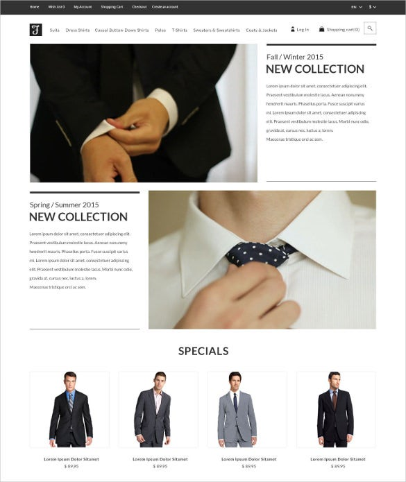 corporate retail fashion shop opencart bootstrap template