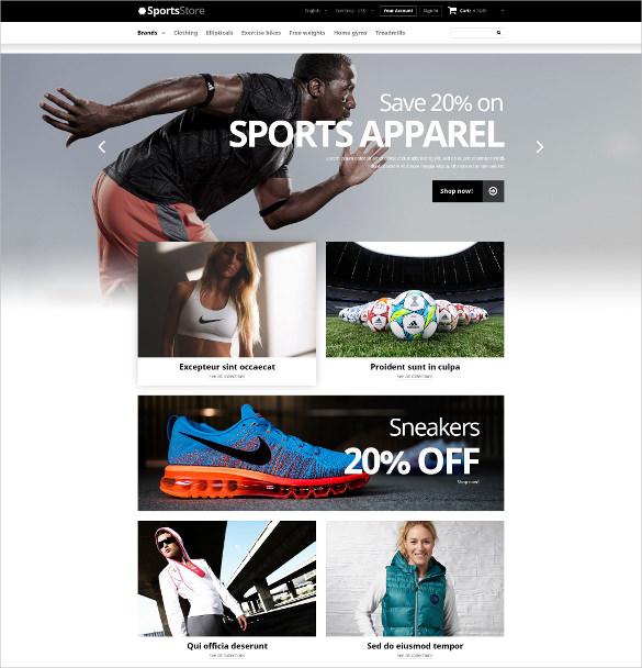 retail sports equipment prestashop bootstrap templates