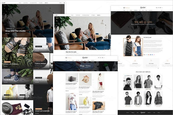 retail fashion psd bootstrap template