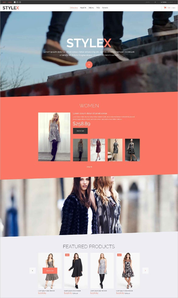 retail fashion virtuemart bootstrap template
