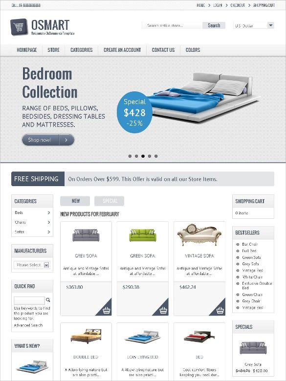 retail responsive oscommerce bootstrap template