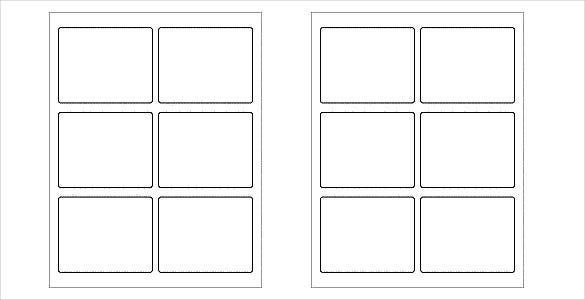 white and blank free label template