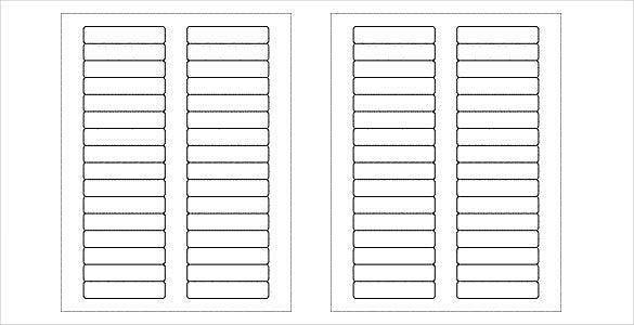 many blank free label template
