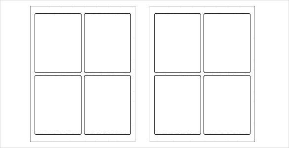 4 blank free label template