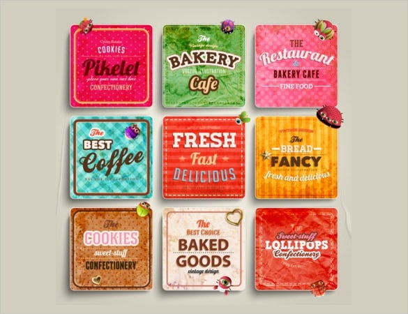 free label for food template download