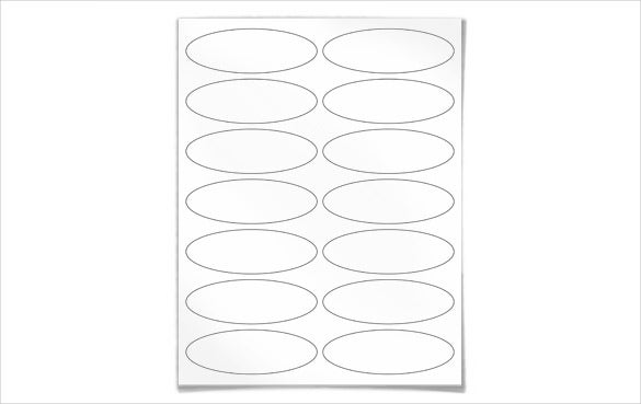 oval free blank label template download