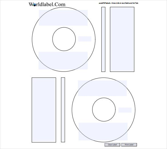 free blank label template in two types1