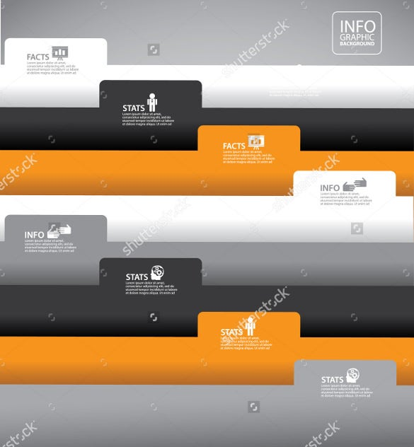 file folder label infographic background