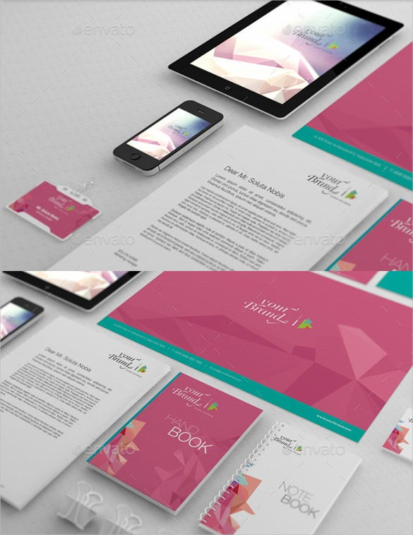 file folder label corporate identity branding mockup