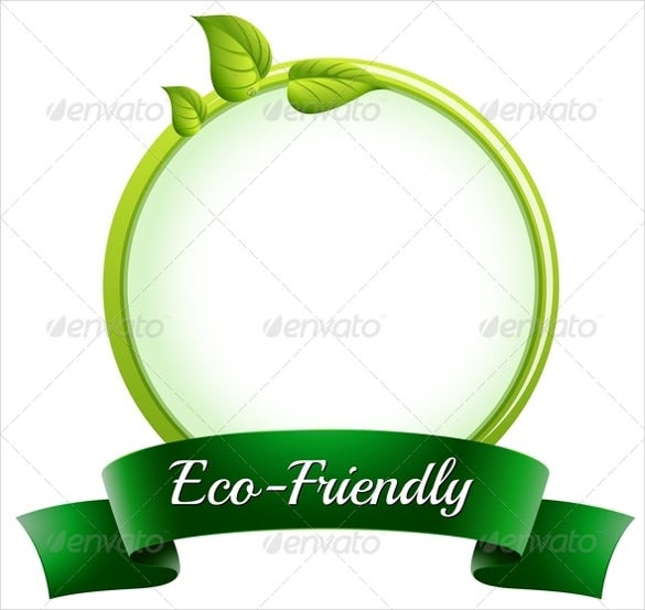 round empty template with an eco friendly label template