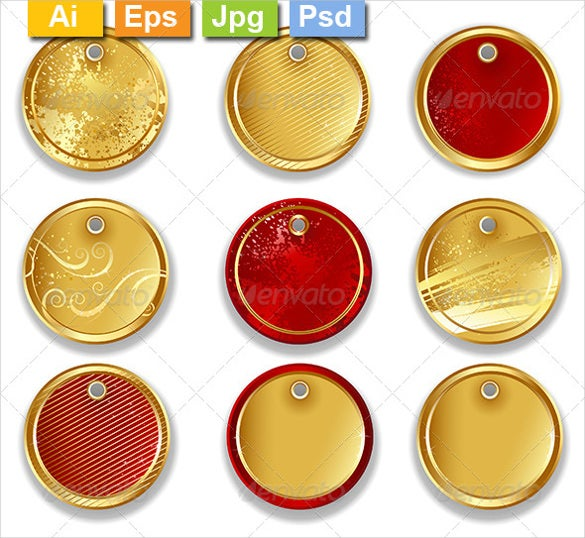 colourful round labels template vector eps