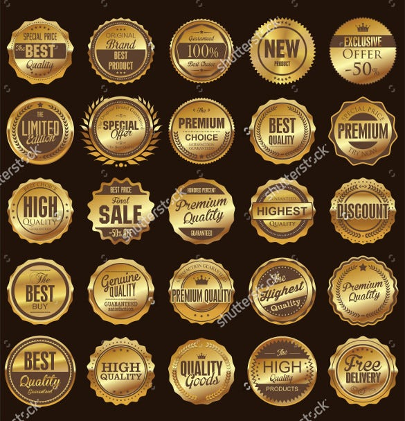 premium quality retro vintage round labels collection
