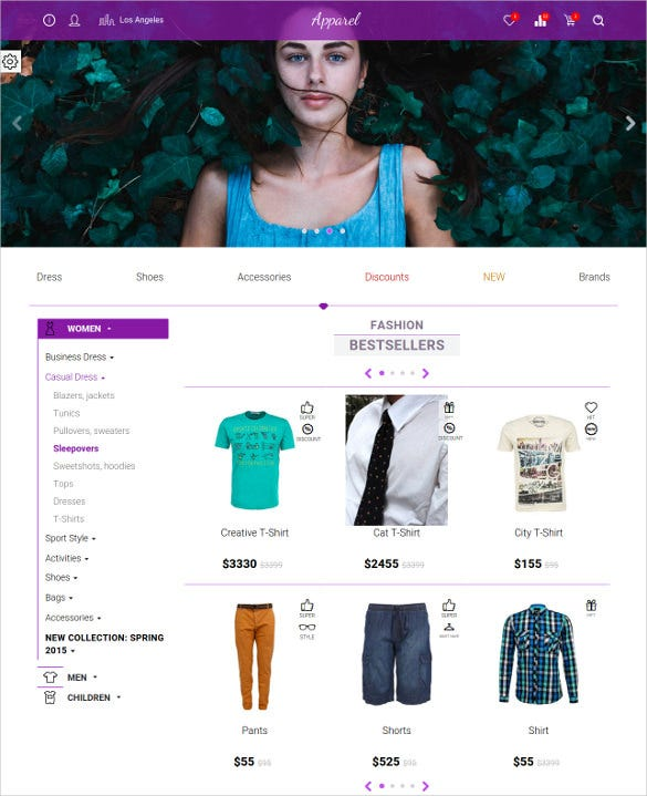 retail clothes store php template