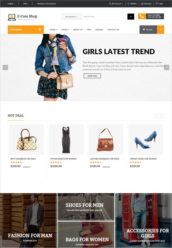 retail responsive e commerce html php template