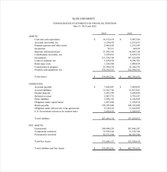 Financial Audit Report Template PDF Format  Audit Template Word