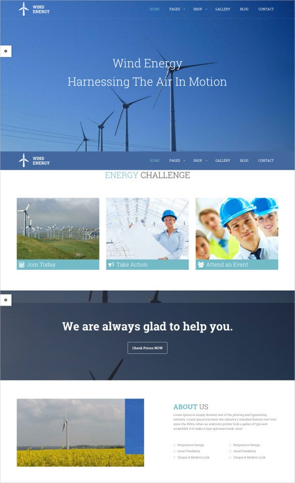 wind retail php theme