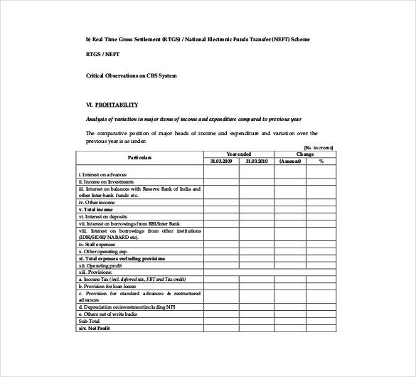 long form audit report format