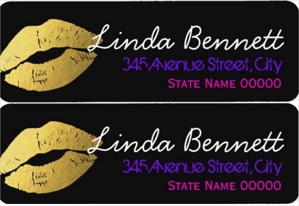 stylish gold lips fashionable label