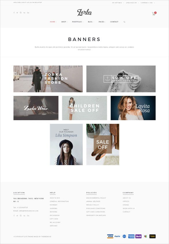 retail fashion html5 php template