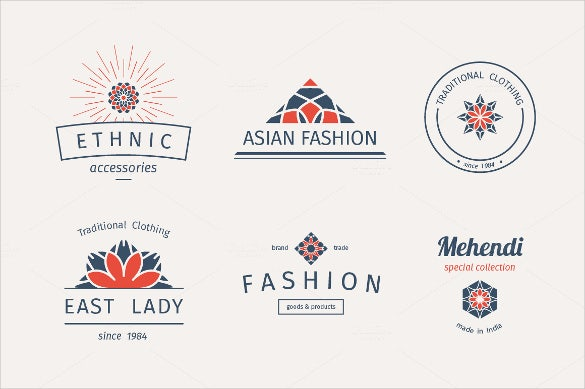 fashion labels and logo template