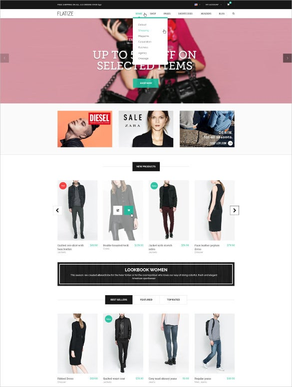 retail fashion e commerce psd jigoshop template