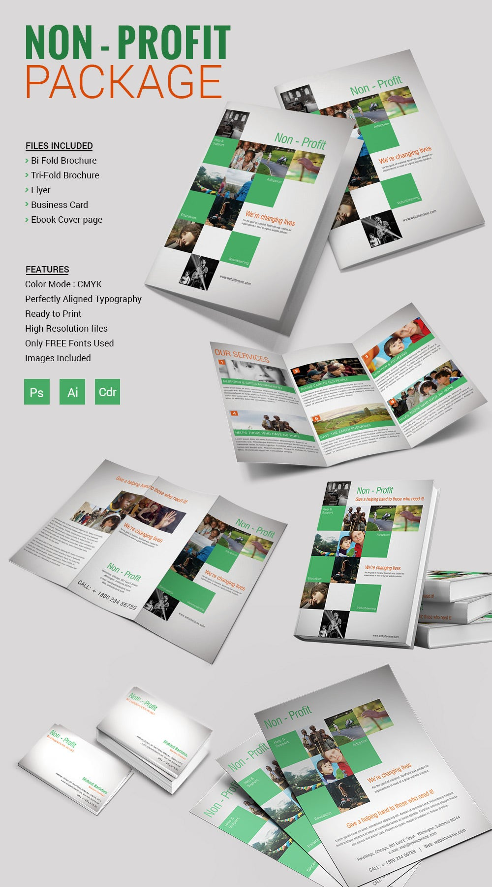 Tri fold brochure template 45 free word pdf psd eps for Bi fold brochure template indesign free
