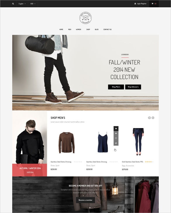 multi layout retail e commerce psd jigoshop template