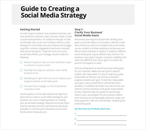 10 Simple Tips For Social Media Best Practice: Social Media Strategy Template