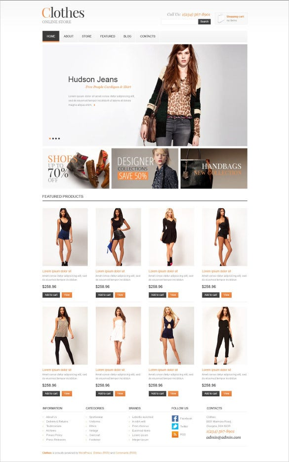 retail all clothes jigoshop theme