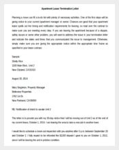 Lease Termination Letter Apartment Template