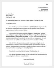 Residential Lease Termination Letter PDF Format