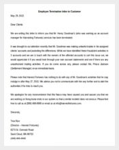 Employee Termination Letter to Customers