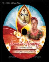 Memorial CD Cover & Label Templates