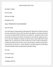 Rental Termination Letter Format