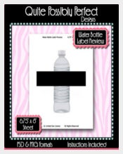 Water Bottle Label Preview Template Instant Download