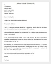 Business Partnership Termination Letter Template Word Format