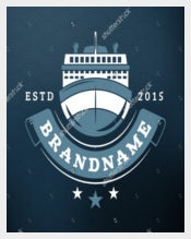 Cargo ShipVintage Retro Design Shipping Label