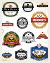 Beer Labels Vector EPS Template Download