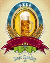 Beer Label Vector EPS Download Template