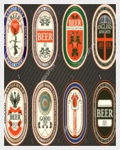 Vector Set of Beer Label