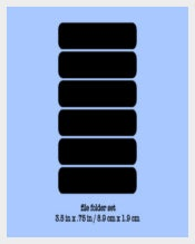 Chalkboard Labels File Folder Template