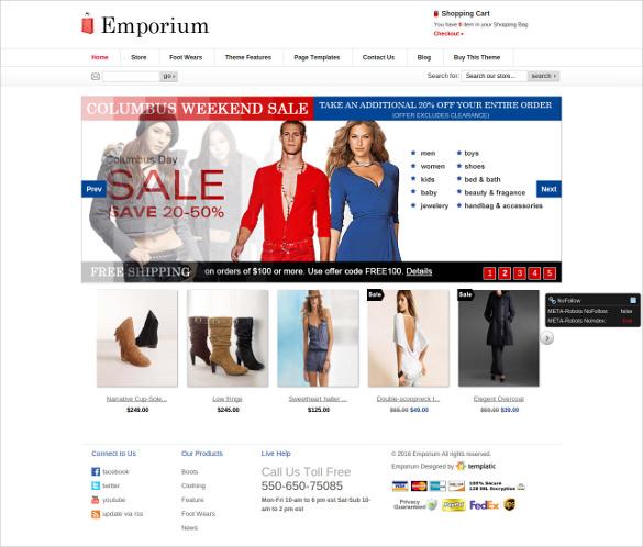 elegant retail php template