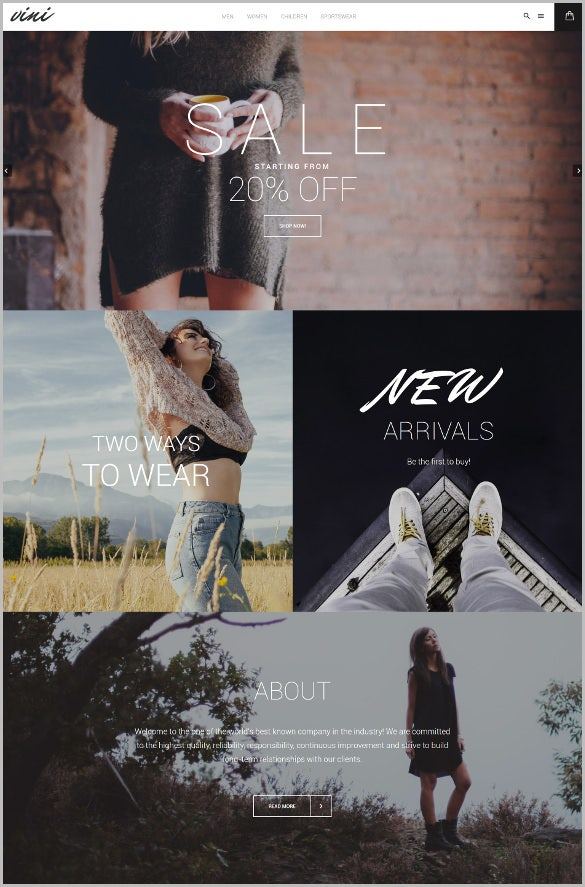retail fashion shop magento theme