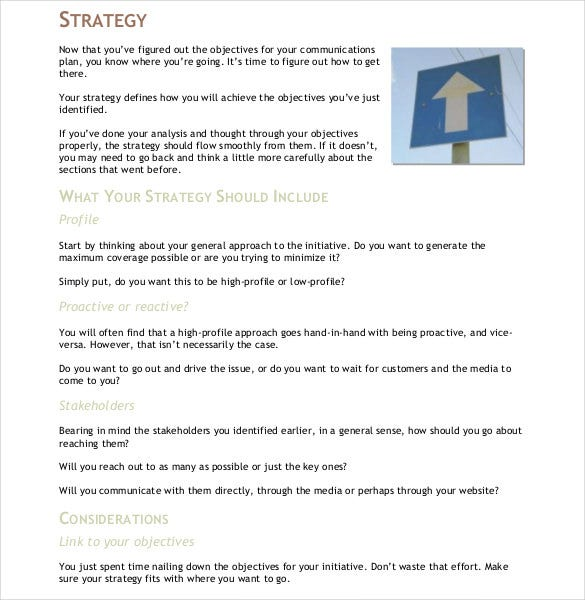 10+ Communication Strategy Templates - Free Word, PDF Documents ...