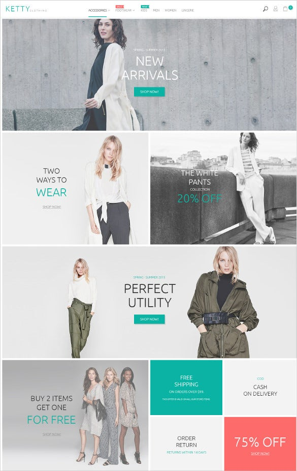 retail fashion clothes store magento theme