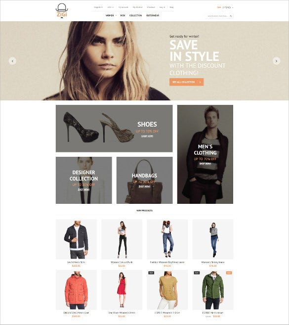 retail apparel responsive magento theme