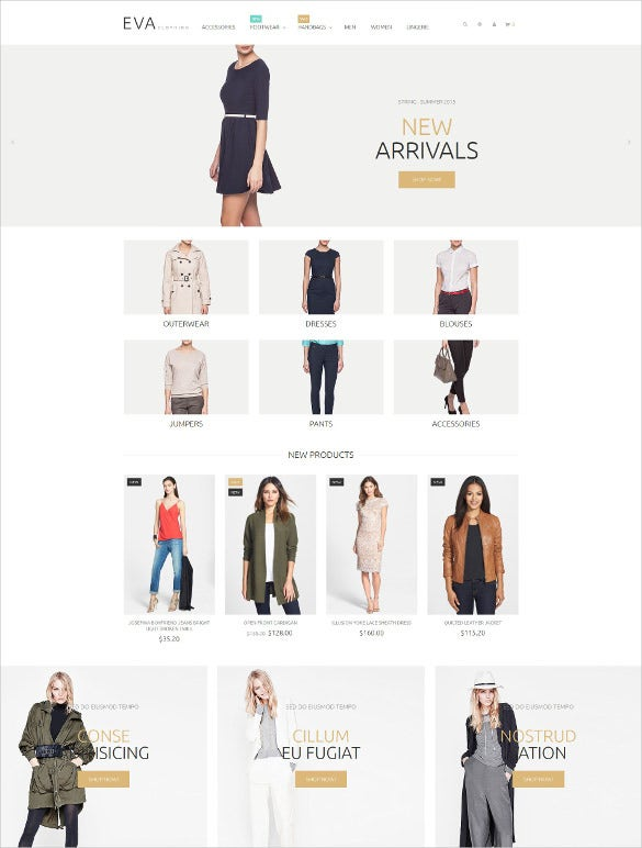 retail clothes store magento theme